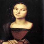 Pietro Perugino (1445-1523)  Mary Magdalen  Oil on panel, 1500  18 1/2 x 13 3/8 inches (47 x 34 cm)  Galleria Palatina (Palazzo Pitti), Florence, Italy